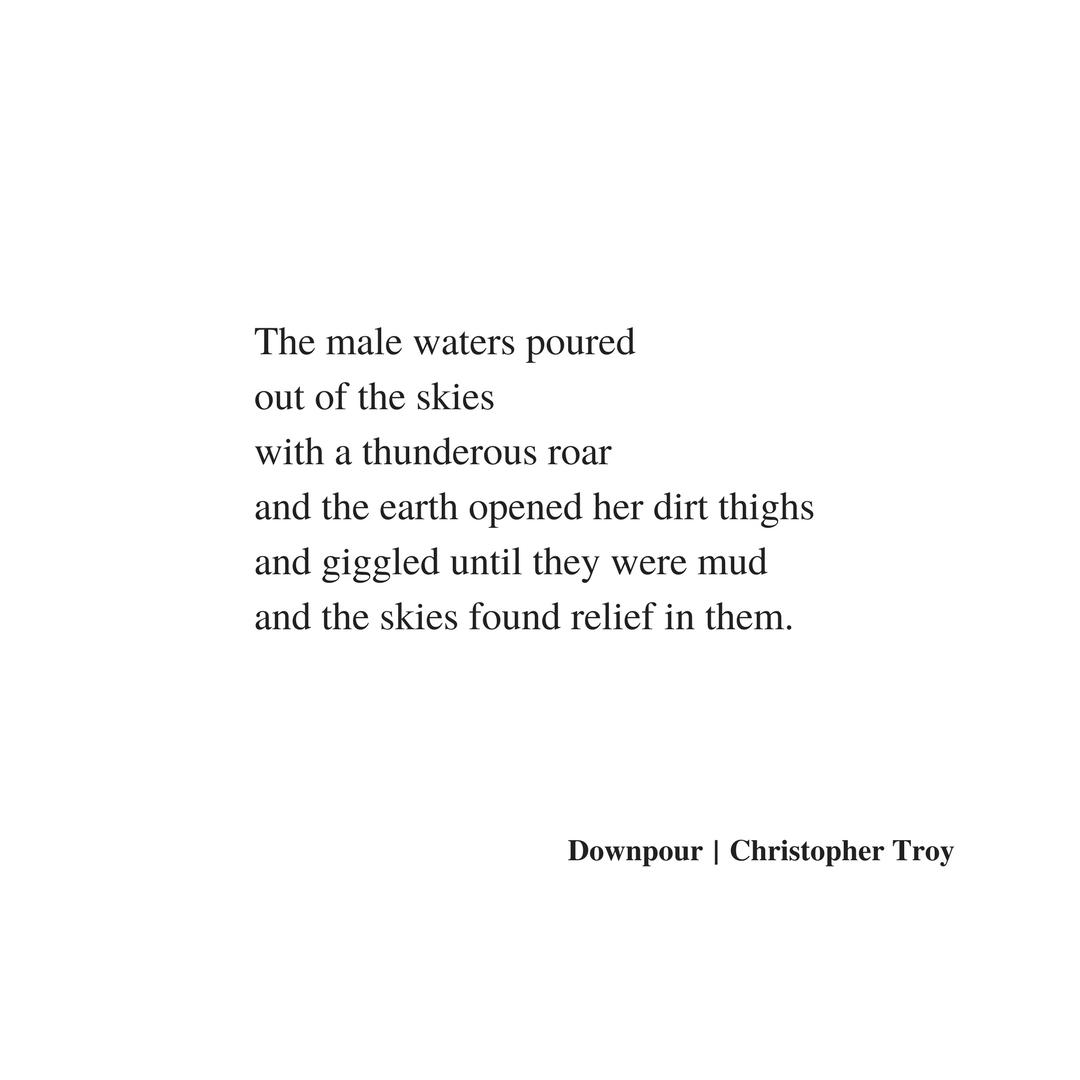 christopher troy poem